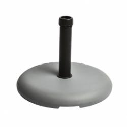 BASE PARASOL REDONDO 25 KG 38/48 MM GRIS OSCURO