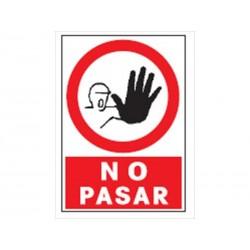 CARTEL NO PASAR RF.3019