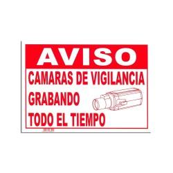 CARTEL DE CÁMARA DE VIGILANCIA