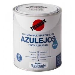 ESMALTE AGUA BAÑOS/COCINAS 750ML BLANCO MAT TITAN