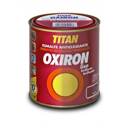 PINTURA OXIRON LISO BR. AGUA GRIS MET 750ML TITAN