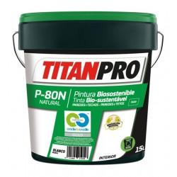 PINTURA TITAN PRO N80 BIO AGUA BL MT 15L