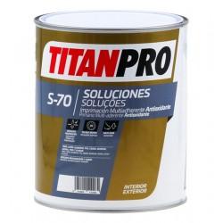 PINTURA TITAN PRO S70 GRIS IMP.ANTIOX.MULTIADH.4L