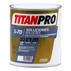 PINTURA TITAN PRO S70 BL IMP.ANTIOX.MULTIADH.750ML
