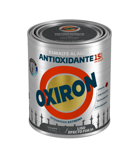 PINTURA OXIRON LISO EF.FORJA AGUA GRIS A. 2,5L