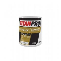 PINTURA TITAN PRO NEGRO COLORLUX BRI.C/P. 750ML