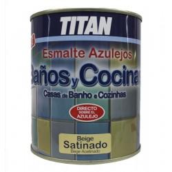 ESMALTE BAÑOS/COCINAS 750ML BEIGE SAT TITAN