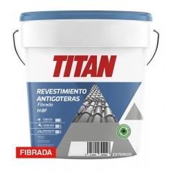 PINTURA H8F FIBRADA ANTIGOTERAS ROJO INGLÉS 4L - TITAN