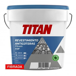PINTURA IMPERMEABILIZANTE FIBRADA H8F ROJO TEJA 4L TITAN