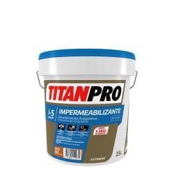 PINTURA IMPERMEABILIZANTE FIBRADA H8F ROJO TEJA 15L TITAN
