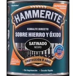 HAMMERITE 750ML ESMALTE METALIZADO SATINADO NEGRO