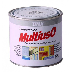 PINTURA PREPARACIÓN MULTIUSO 1/2L GRIS - TITAN